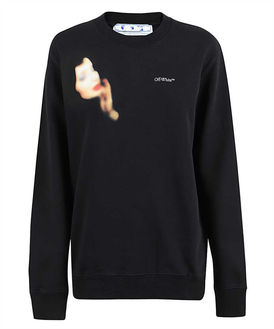 Off-White OWBA055F20JER009 BLUE VELVET Sweatshirt 1