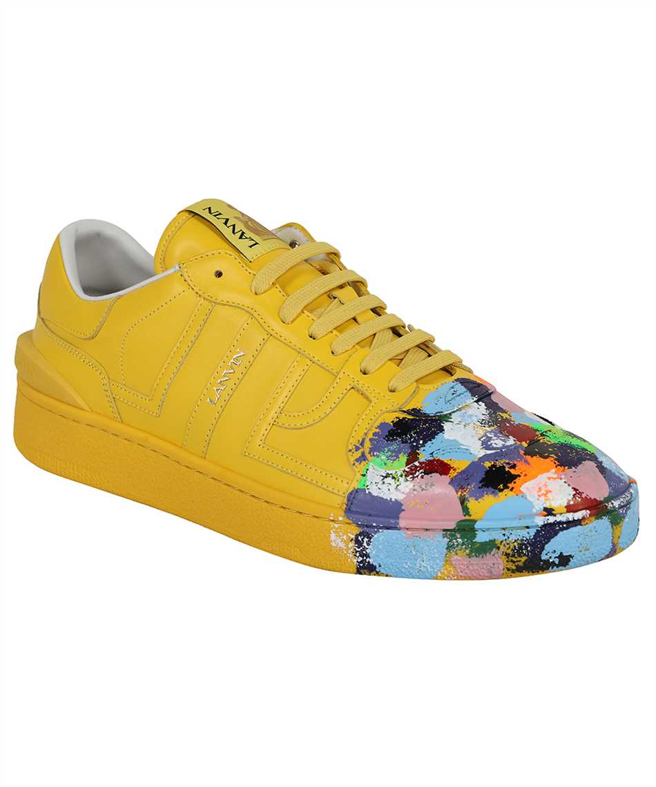 Lanvin FM SKDK00 MAGD E21 PAINTED CALFSKIN LEATHER CLAY LOW-TOP Sneakers 2
