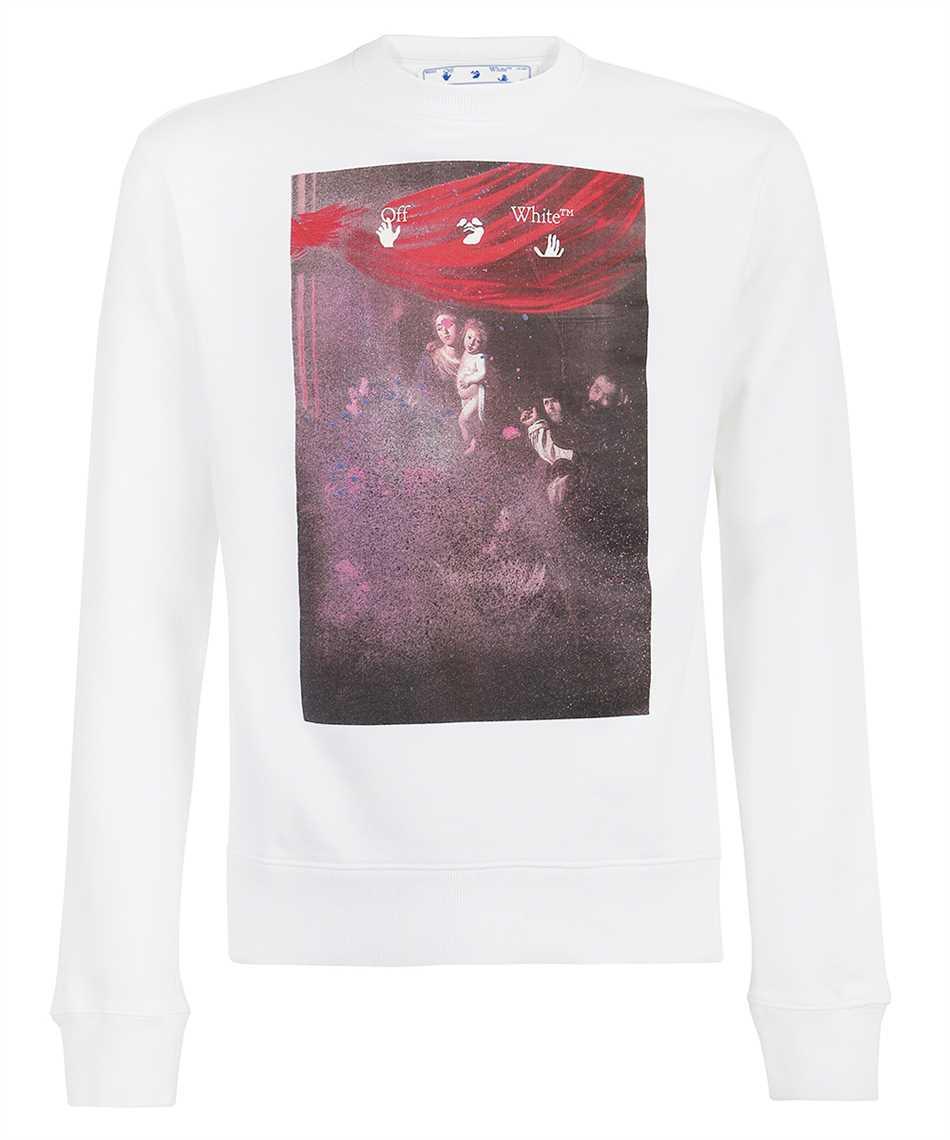 Off-White OMBA025S21FLE009 SPRAYED CARAVAGGIO SLIM Sweatshirt 1