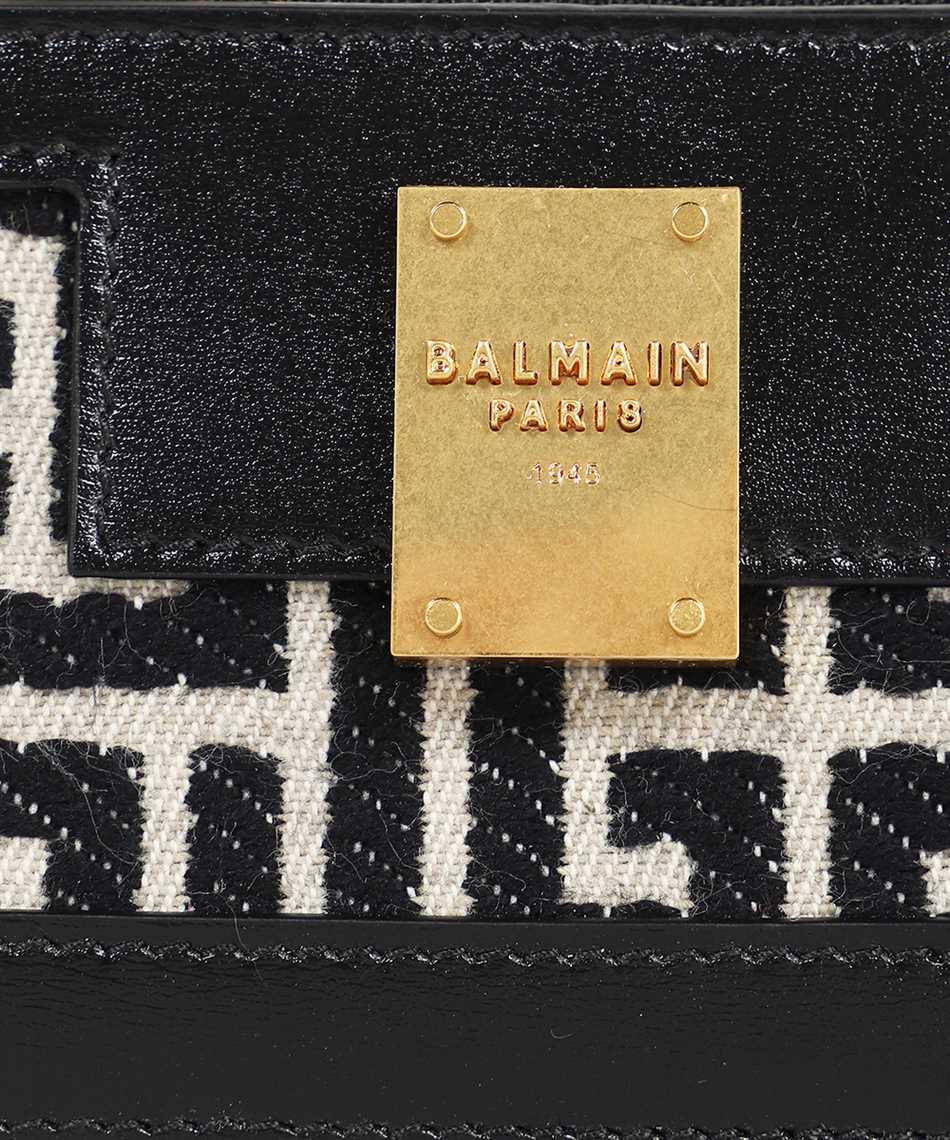 Balmain WN1LA127TJLX BICOLOR JACQUARD LEATHER PANELS 1945 Kartenetui 3