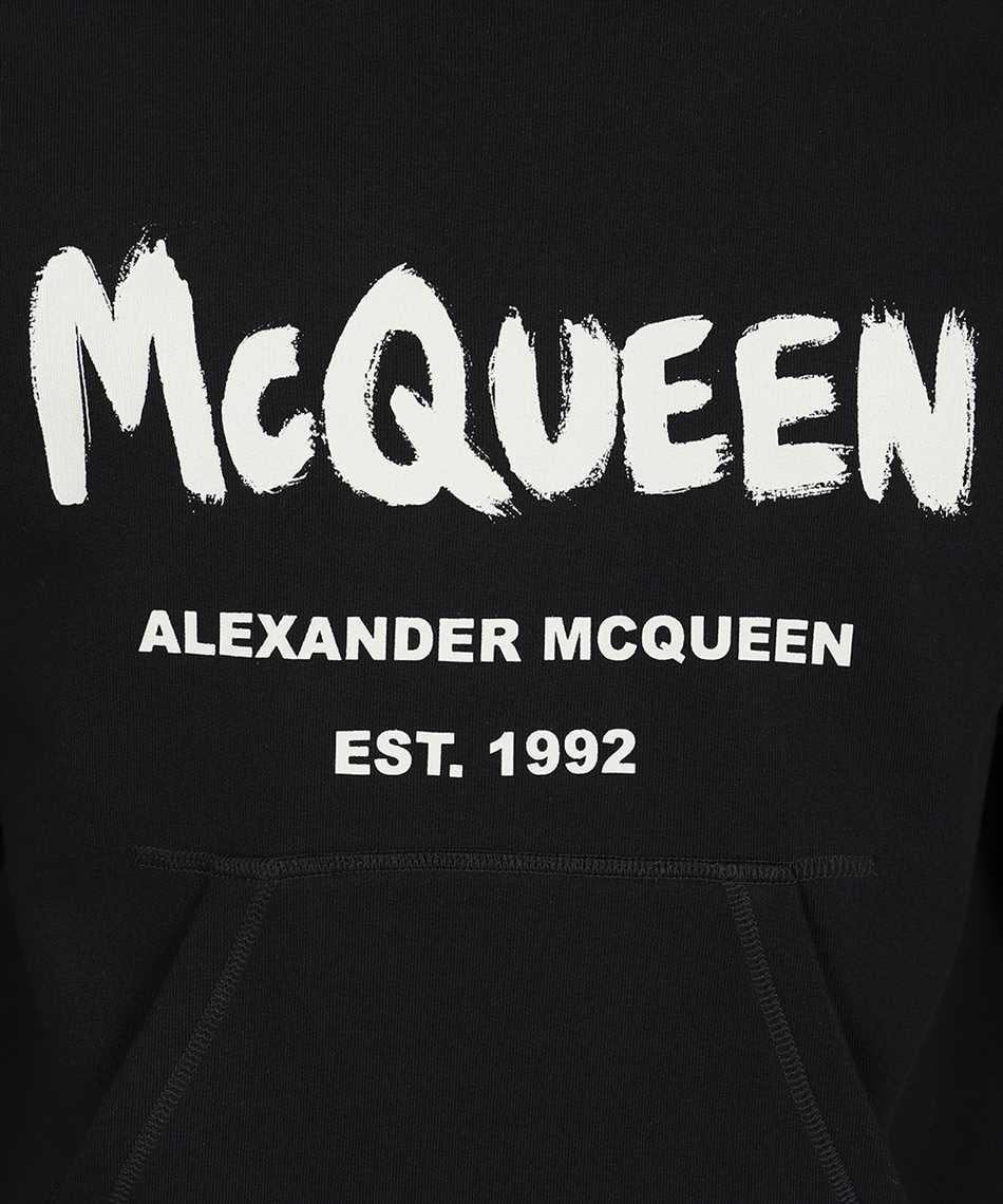 Alexander McQueen 665401 QRZ71 GRAFFITI Kapuzen-Sweatshirt 3
