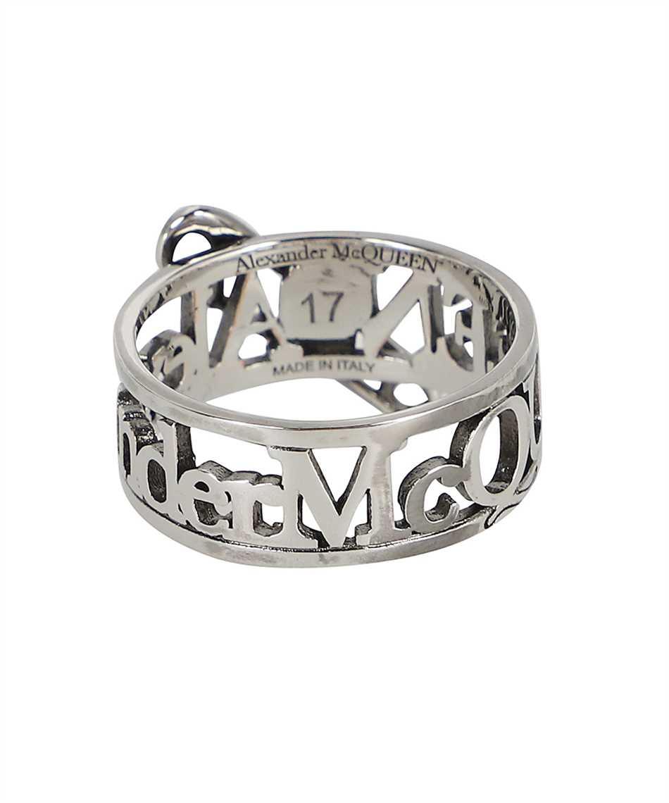 Alexander McQueen 663824 J160Y SKULL SAFETY PIN Ring 2