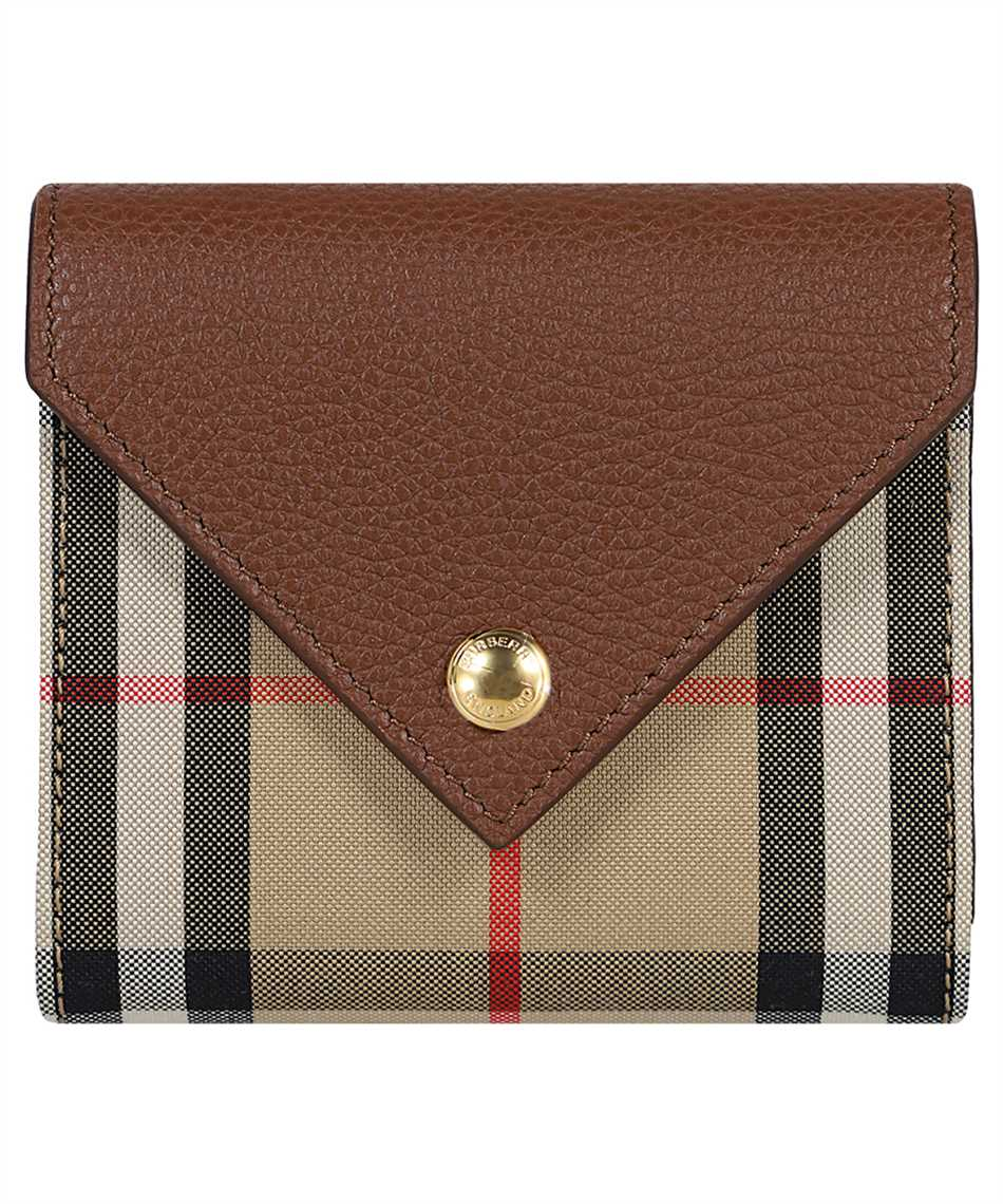 Burberry 8026116 VINTAGE CHECK AND GRAINY LEATHER FOLDING Wallet 1