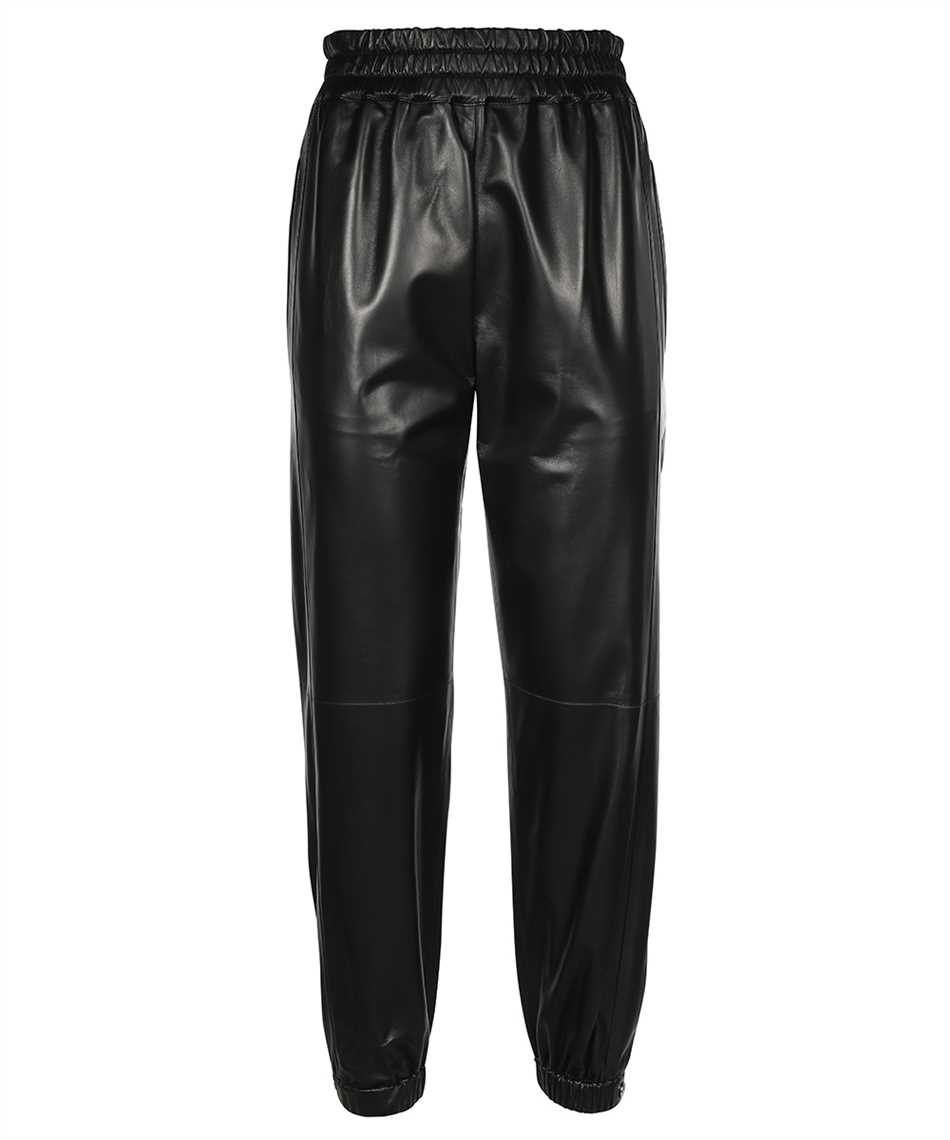 Alexander McQueen 668453 Q5AGP LEATHER Trousers 1