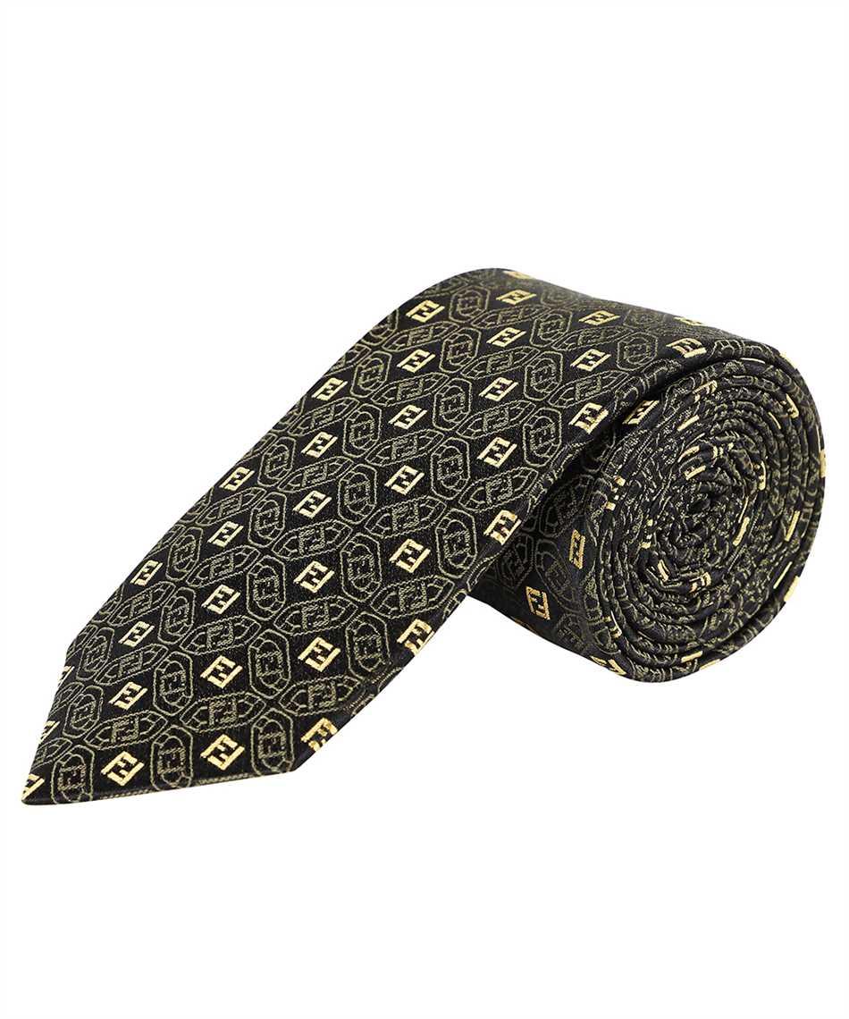 Fendi FXC023 AFY2 JACQUARD FF Cravatta 2