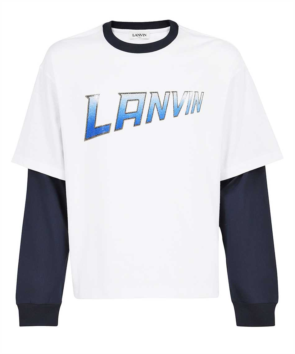 Lanvin RM TS0020 J054 A21 LONG SLEEVE CONTRASTED T-Shirt 1