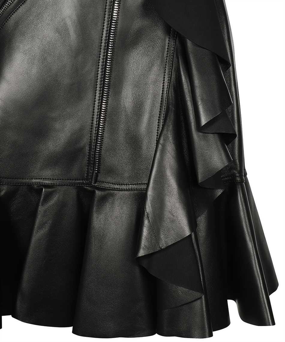 Alexander McQueen 668445 Q5AGK LEATHER RUFFLE Skirt 3