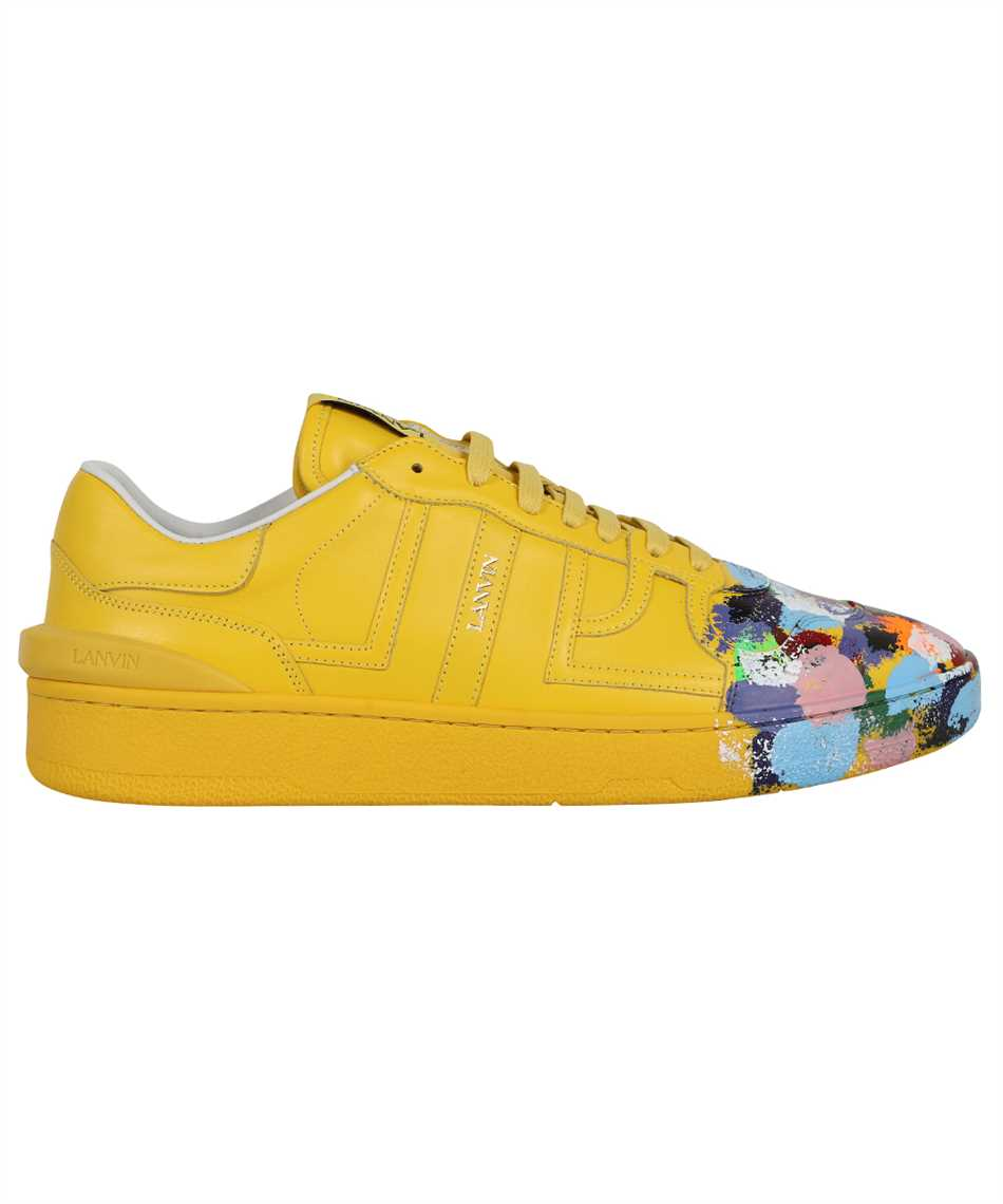 Lanvin FM SKDK00 MAGD E21 PAINTED CALFSKIN LEATHER CLAY LOW-TOP Sneakers 1