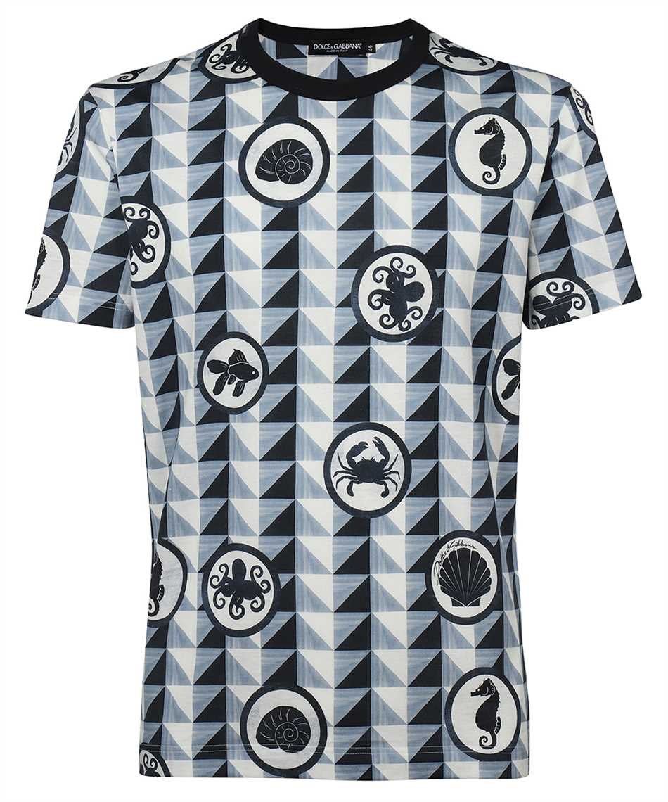 Dolce & Gabbana G8KBAT HS7EG MAJOLICA PRINT COTTON T-shirt 1