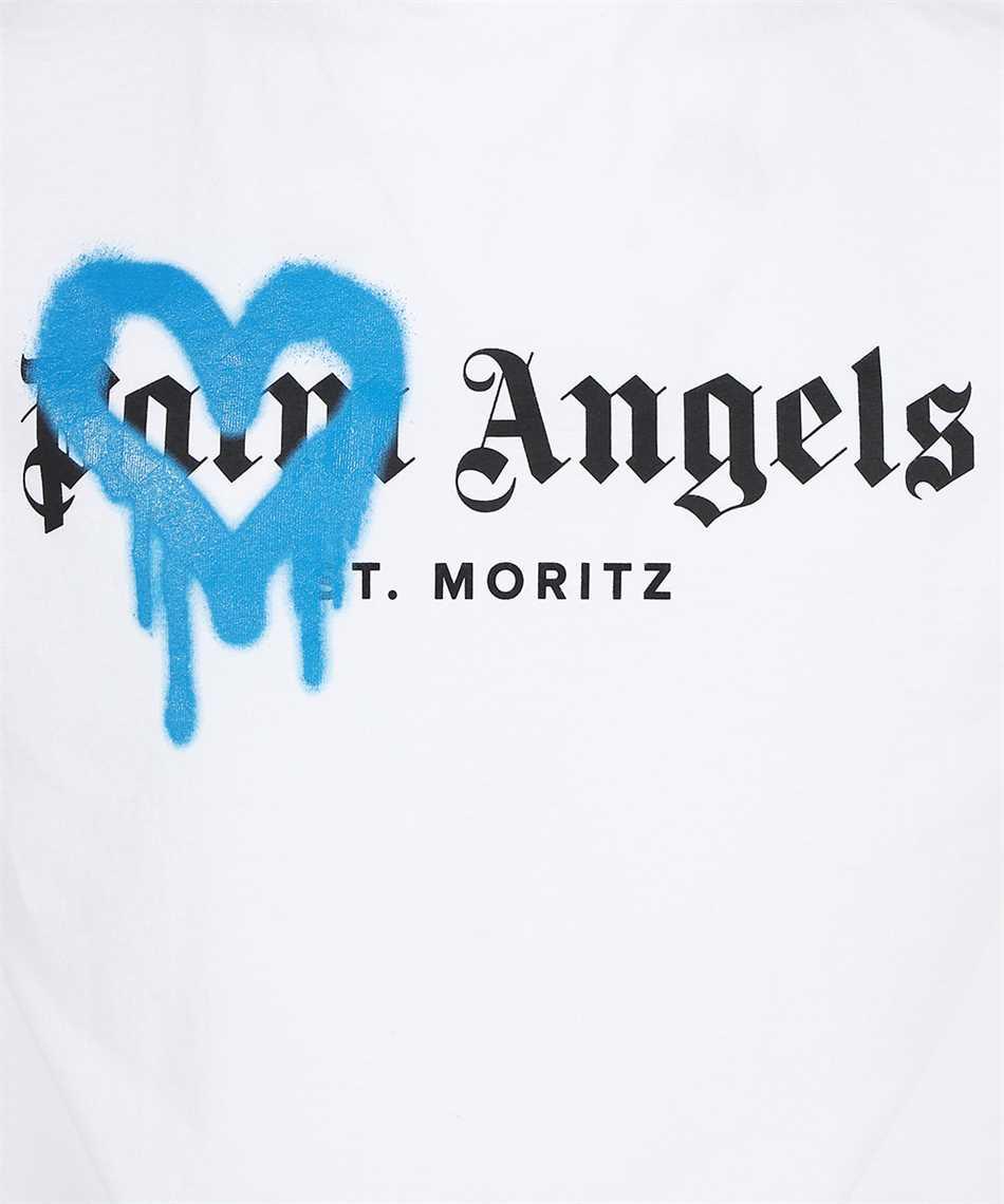 Palm Angels PMAA001F21JER002 ST MORITZ HEART SPRAYED T-shirt 3